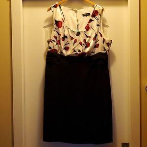 Michael Antoni - Peplum Roses and Black Dress 3X
